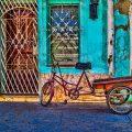Vélo devant maison